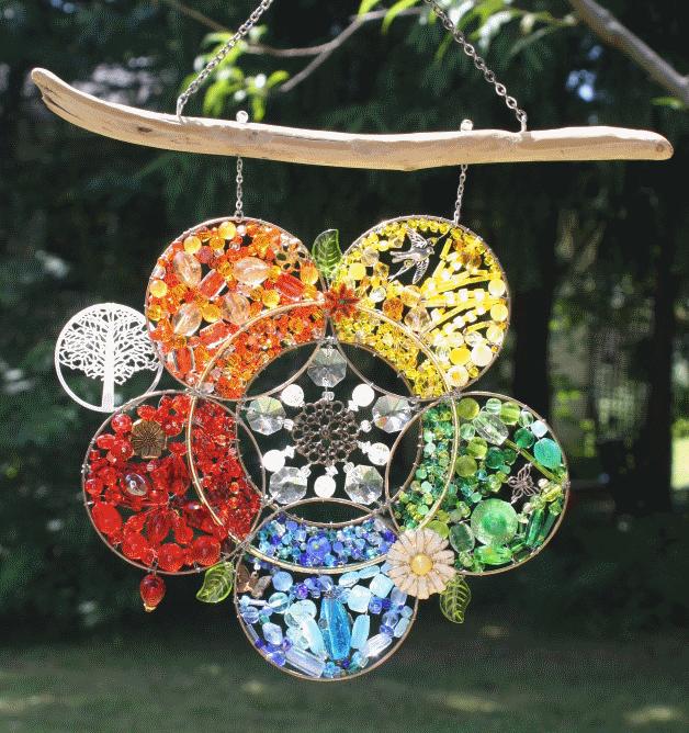 "Vibrant Flower - sold  (15.5"" x 9.5"")"